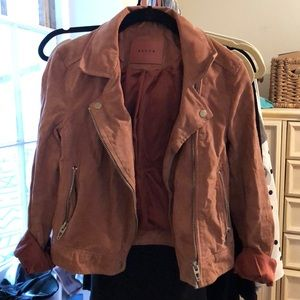 Blank NYC Pink Suede Moto Jacket